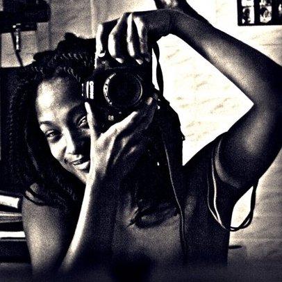 Self portrait of Laeïla Adjovi